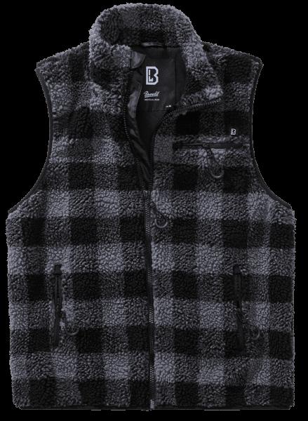 Brandit Teddyfleece Vest Men - black.grey - vorn - armyoutlet