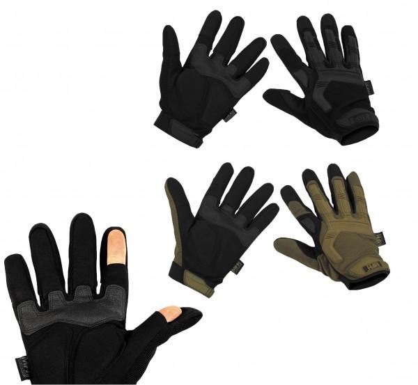 Tactical Handschuhe Einsatzhandschuhe Stake schwarz und oliv
