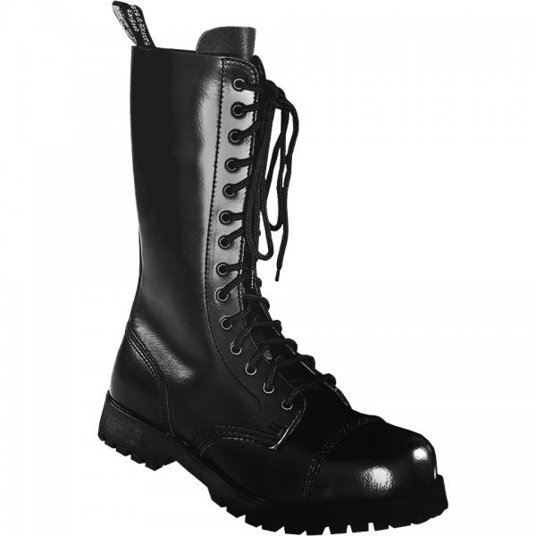 Boots & Braces 14 Loch Boots schwarz