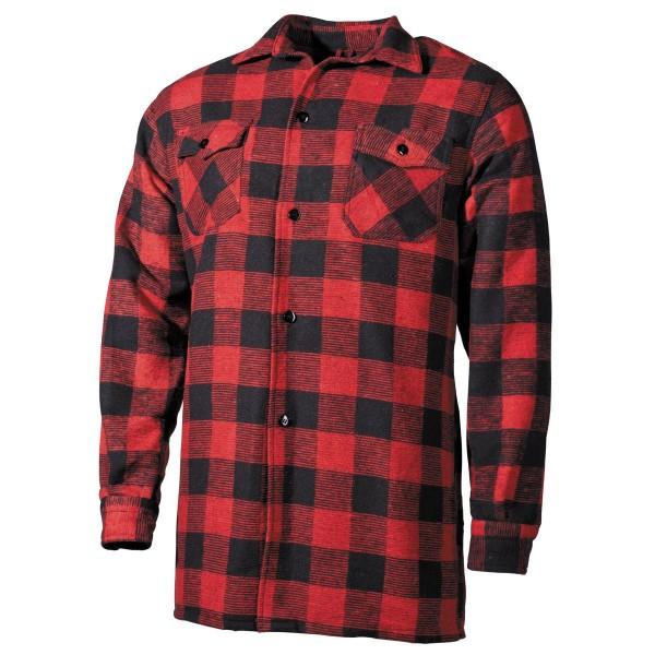 Fox Outdoor Holzfällerhemd rot-schwarz vorn - armyoutlet.de