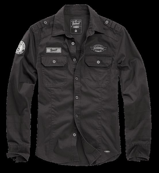 Brandit Luis Vintageshirt schwarz vorn - armyoutlet.de