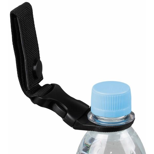 Flaschenhalter für Gürtel und Molle System schwarz mit Flasche - armyoutlet.de