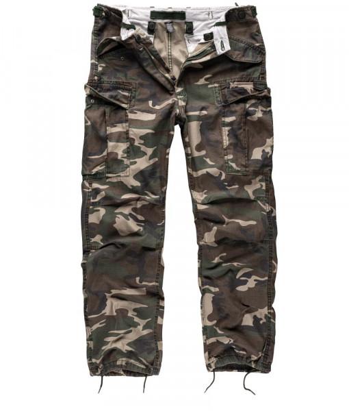 Surplus Vintage Fatigue Trousers - armyoutlet - woodland vorn