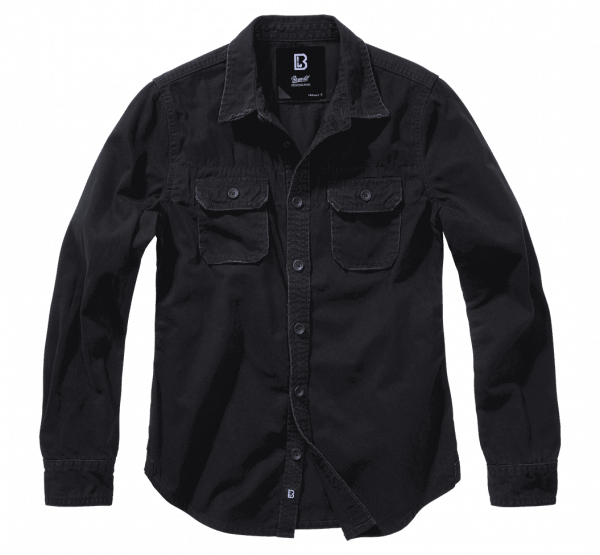 Brandit Ladies Vintageshirt longsleeve - schwarz - vorn - armyoutlet