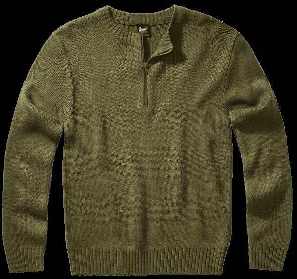 Brandit Armee Pullover - oliv - vorn - armyoutlet