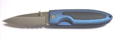 Einhand Klappmesser Otter blau 7 cm