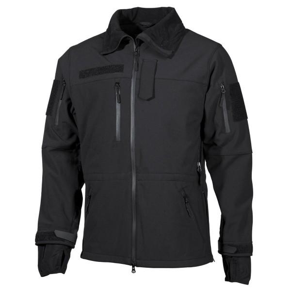 Softshell Jacke High Defence schwarz vorn