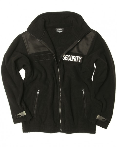 Security Fleece Jacke schwarz