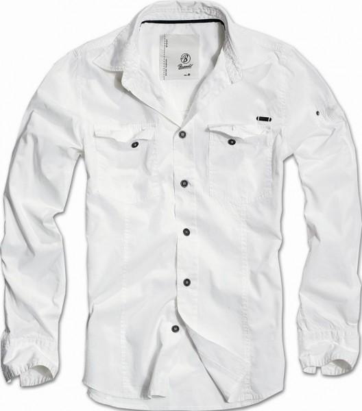 Brandit SlimFit Shirt weiss 1