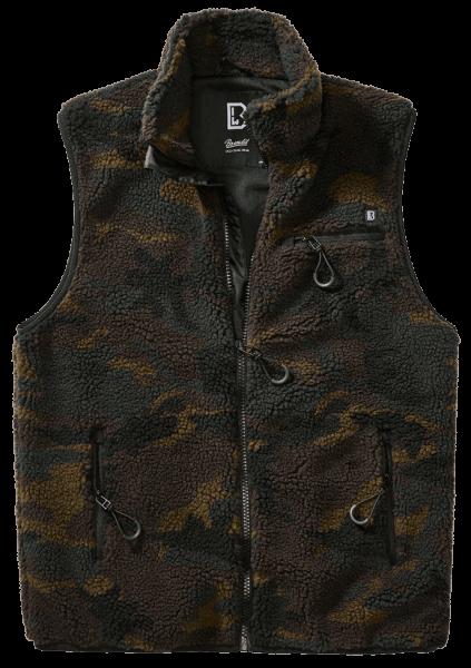 Brandit Teddyfleece Vest Men - woodland - vorn - armyoutlet