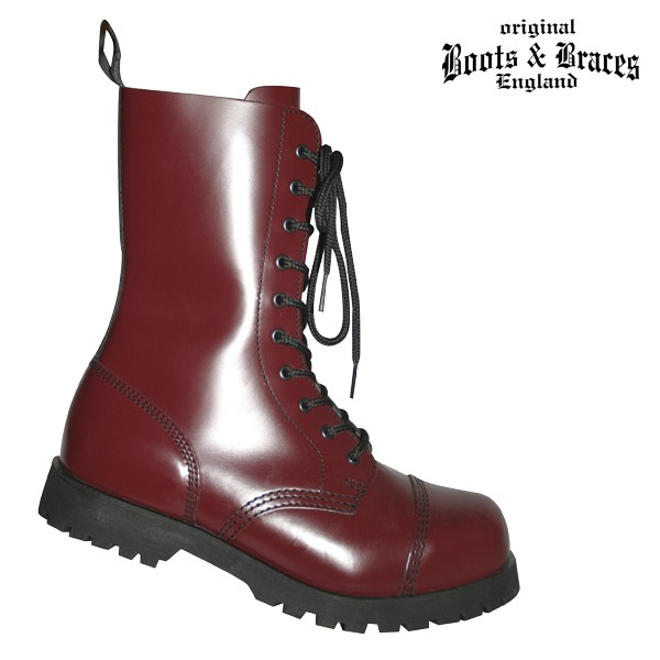 Boots & Braces 10 Loch Boots cherry red
