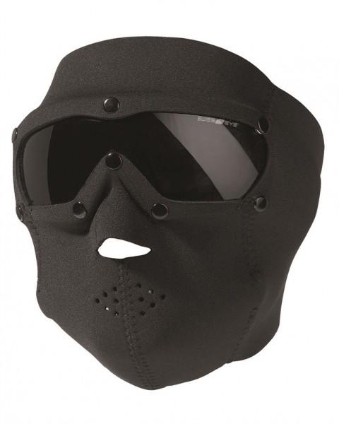 Neopren Gesichtsschutzmaske Basic Smoke schwarz