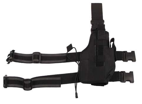 Pistolenbeinholster NATO rutschfest schwarz