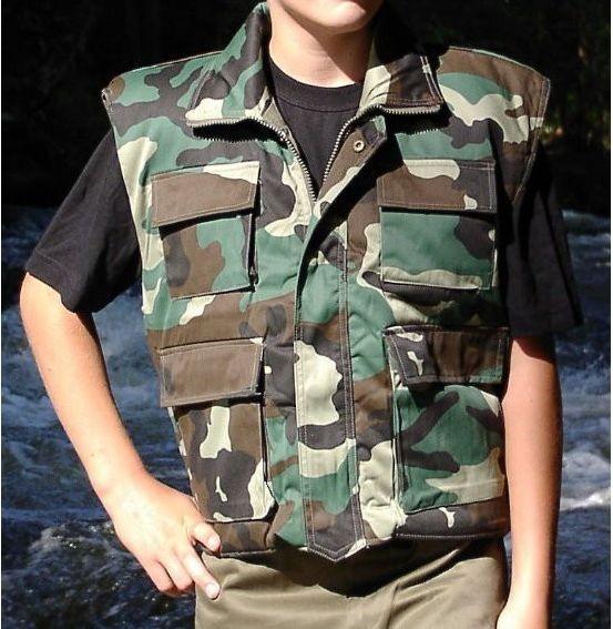 Kinder Rangerweste Woodland