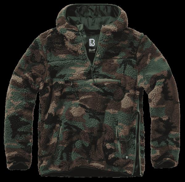 Brandit Teddyfleece Worker Pullover - woodland - vorn - armyoutlet