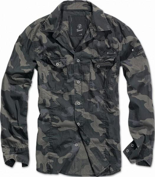 Brandit SlimFit Shirt darkcamo 1