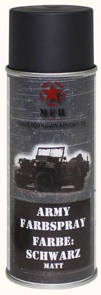 Army Farbspray schwarz matt 400ml