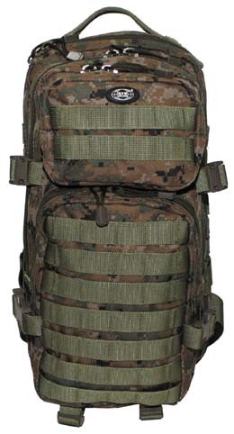 US Rucksack Assault I digital woodland