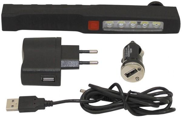 LED Stablampe mit Magnet wiederaufladbar