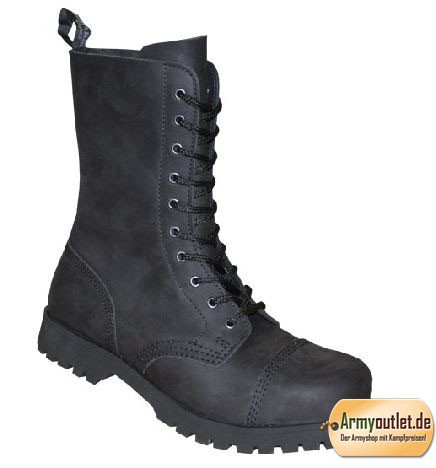 Boots & Braces 10 Loch Boots Crazy Horse schwarz