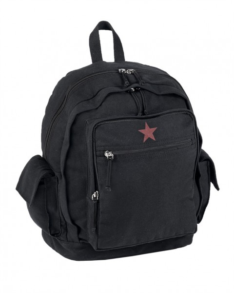 City Rucksack Canvas Red Star 25 L