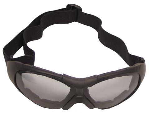Bikerbrille Run schwarz