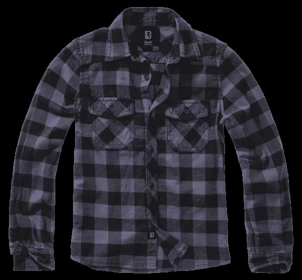 Brandit Kids Checkshirt - black-grey - vorn - armyoutlet