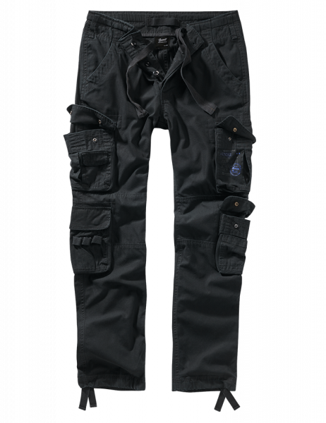 Brandit Pure Slim Fit Trousers - schwarz - vorn - armyoutlet