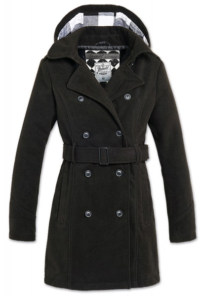 Brandit Mantel Girls Coat Long schwarz