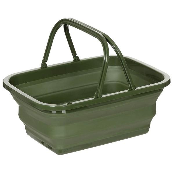 Faltkorb oliv 9 Liter - armyoutlet.de