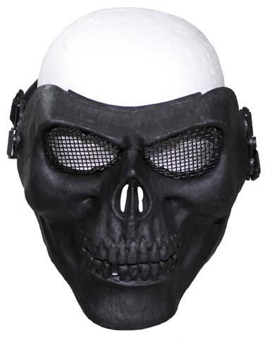 Gittermaske Totenkopf klein schwarz