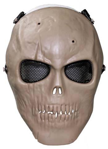 Gittermaske Totenkopf coyote tan