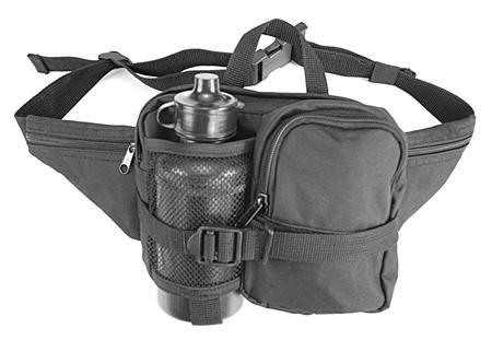 Hüfttasche mit Trinkflasche 0,5 l schwarz