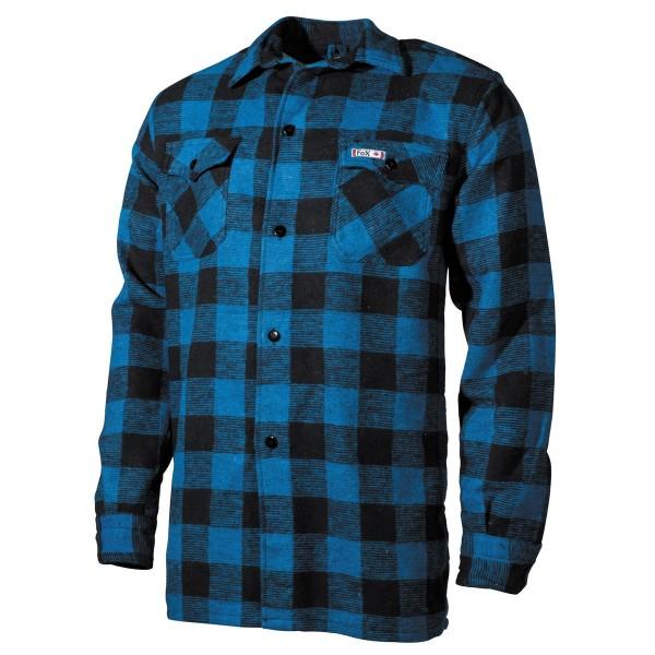 Fox Outdoor Holzfällerhemd blau-schwarz vorn - armyoutlet.de