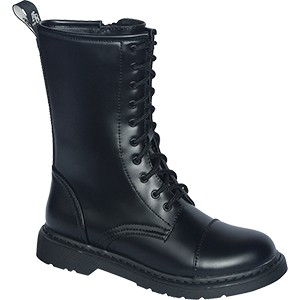 Knightsbridge Dark Creationz 10 Loch Boots mit Side Zip