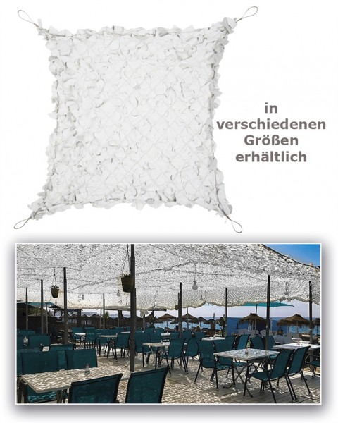 Sonnenschutznetz Broadleaf Shade Sail weiss - armyoutlet.de