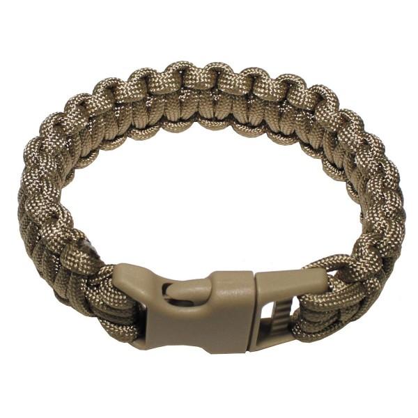 Paracord Survival Armband mit Clip 2,3 cm