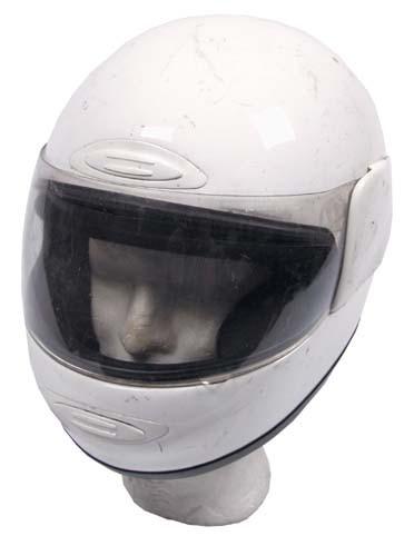 Motorradhelm weiß