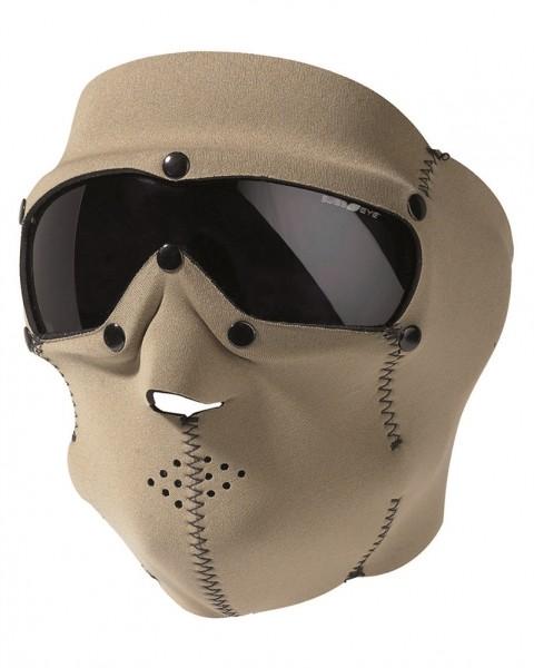 Neopren Gesichtsschutzmaske Basic Smoke coyote