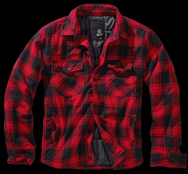 Brandit Lumberjacket red-black vorn - armyoutlet.de