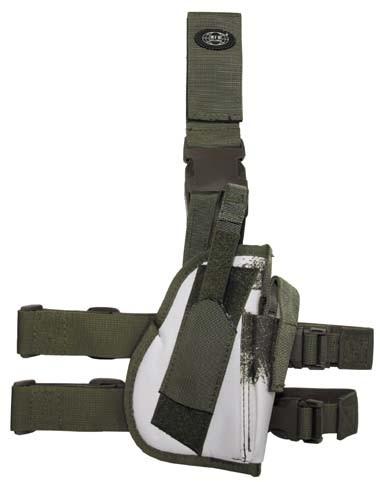 Pistolenbeinholster 2 mit Bein- und Gürtelbefestigung rechts wintertarn