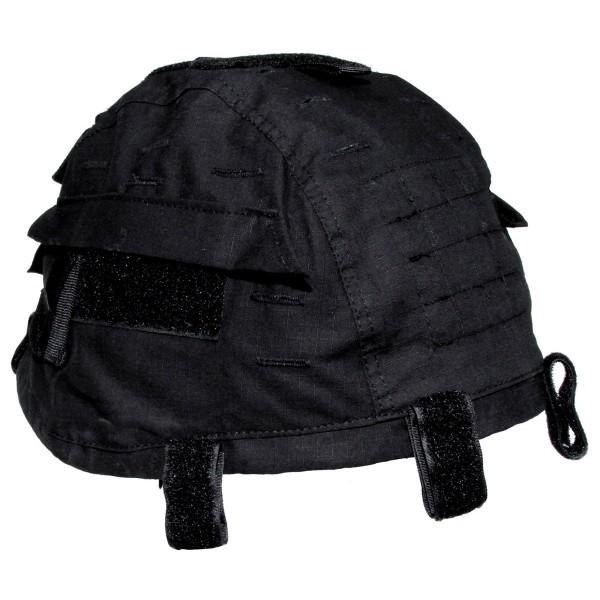 Helmbezug mit Taschen groessenverstellbar vorn schwarz