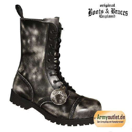 Boots & Braces 10 Loch Boots rub off weiß