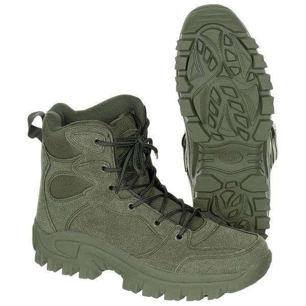 Stiefel Commando knöchelhoch oliv