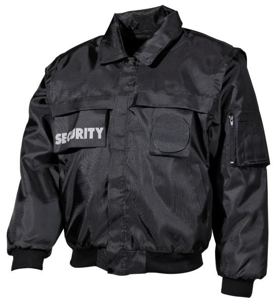 Blouson Jacke Security schwarz vorn