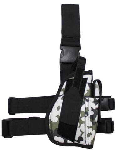 Pistolenbeinholster 2 mit Bein- und Gürtelbefestigung snowcamo