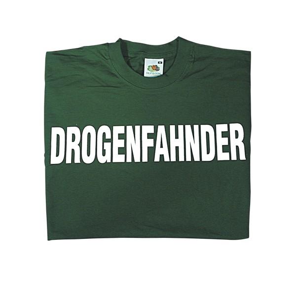 T-Shirt Drogenfahnder grün