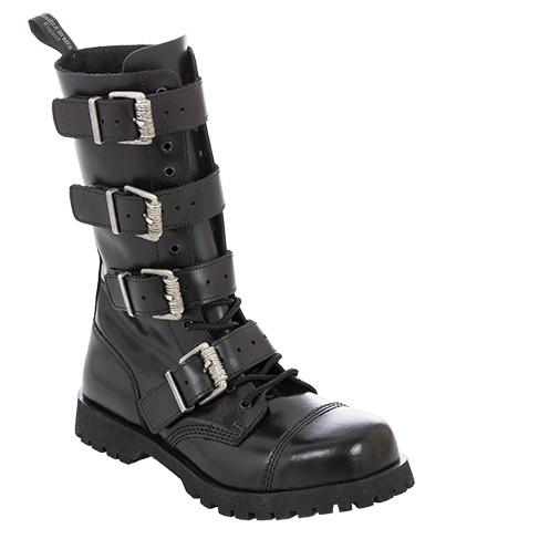 Boots & Braces 4 Buckle Heavy schwarz