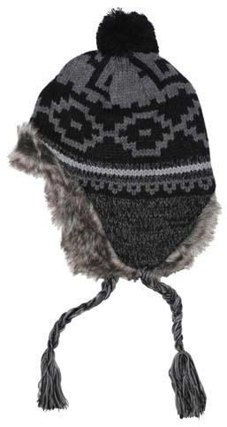Mütze Peru Piura schwarz grau