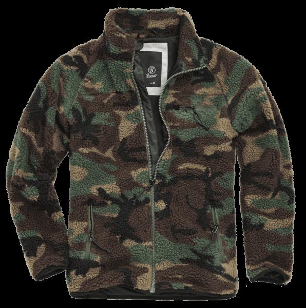 Brandit Teddyfleece Jacket woodland vorn - armyoutlet.de